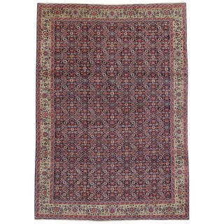 20th Century Persian Geometric Herati Area Rug For Sale