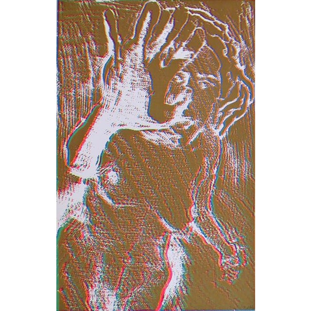 Abstract Expressionism Brown Nude Silkscreen by Lloyd Fertig For Sale - Image 3 of 3
