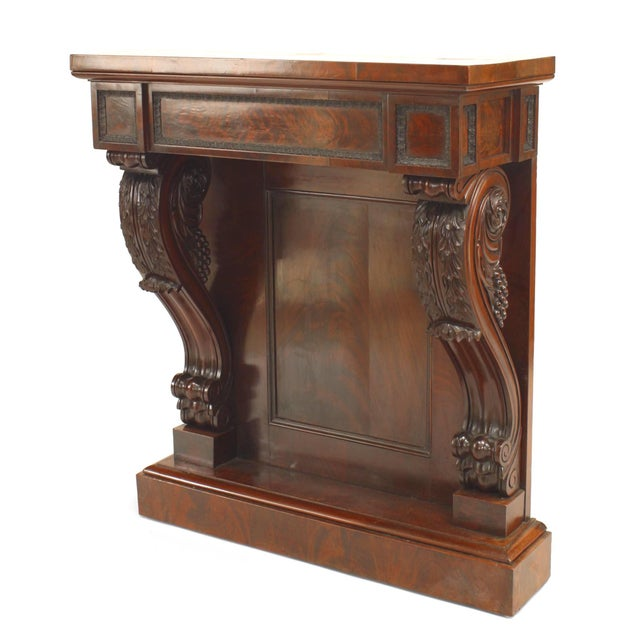 19th Century English Regency Mahogany Console Table For Sale In New York - Image 6 of 6