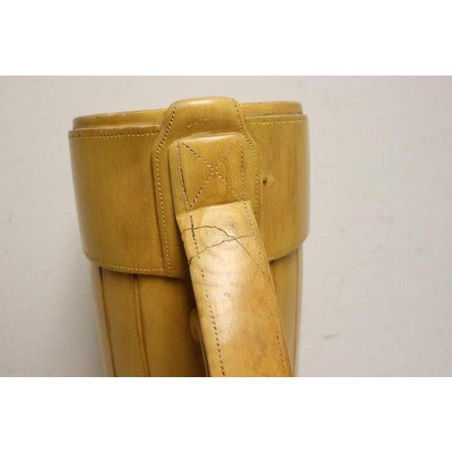 Vintage Carved Wood Decorative Golf Bag For Sale - Image 9 of 11