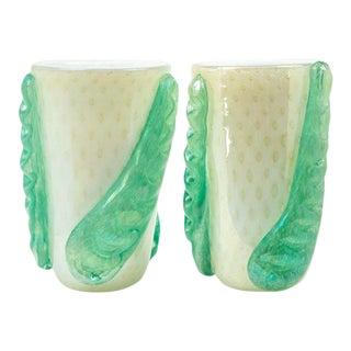 Pair of Large Murano Blown Vases