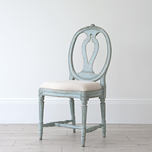 Rosa Gustavian Dining Chair For Sale - Image 11 of 11