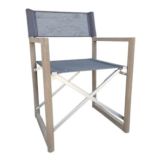 Restoration Hardware Outdoor Teak Directors Armchair For Sale
