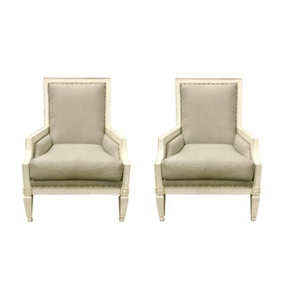 Fairfield Chairs - A Pair For Sale