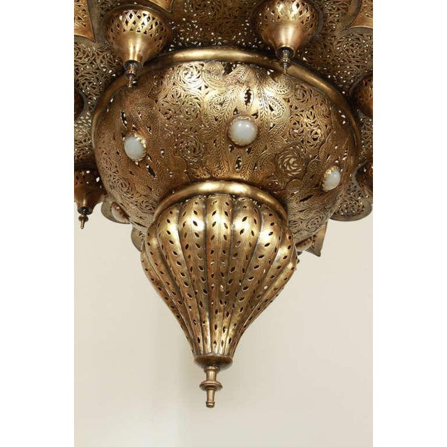 Brass Large Moroccan Moorish Brass Chandelier For Sale - Image 7 of 13