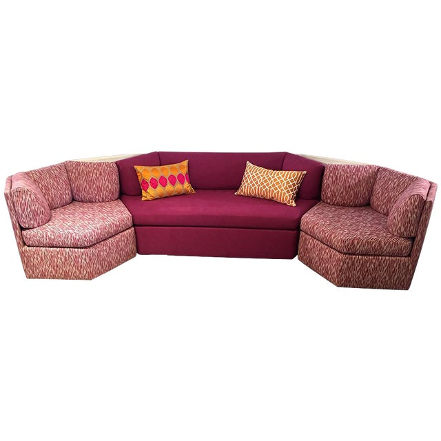 Vintage Reupholstered Milo Baughman Five-Piece Sectional Sofa by Thayer Coggin - Image 1 of 9