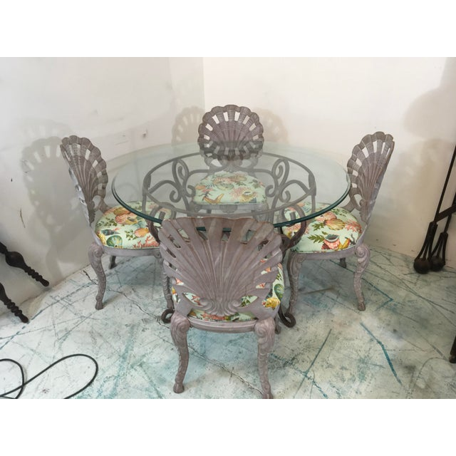 Grotto Style Patio Dining Set W/ 4 Chairs Att. Brown Jordan For Sale - Image 4 of 5