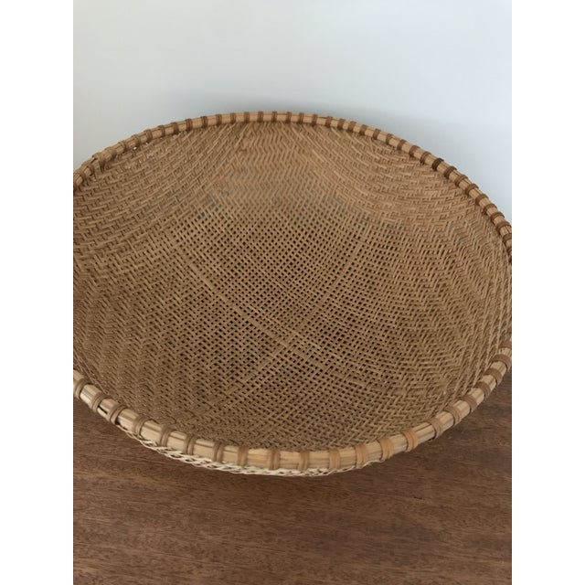 Boho Chic Monumental Winnowing Bowl For Sale - Image 3 of 5