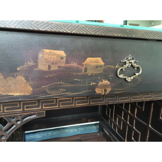 Drexel Heritage Mandalay Asian Chinoiserie Desk - Image 10 of 11