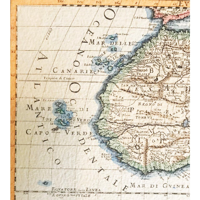 1990s Italian Made Africa Map on