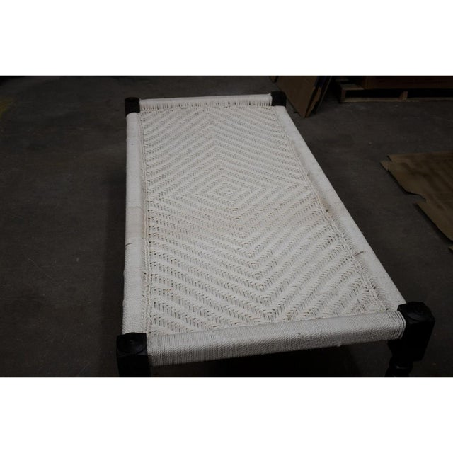 Vintage Handcrafted Rope Daybed For Sale - Image 4 of 5
