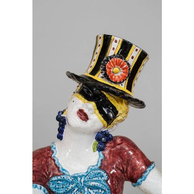 19th Century Italian Majolica Harlequins - Set of 2 For Sale - Image 10 of 11