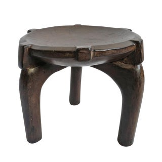 Tanzania Hehe Wood Stool Large For Sale