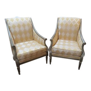 Drexel Heritage Lounge Chairs - A Pair For Sale