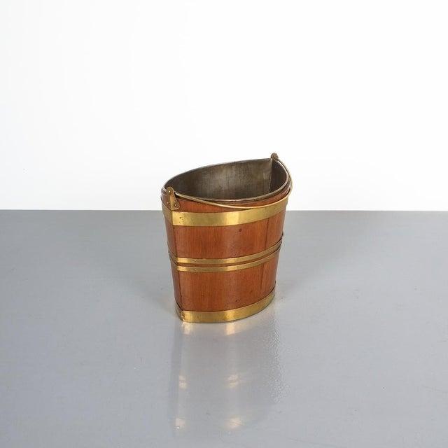 Irish 19th Century Oval Oak Brass Peat Bucket For Sale - Image 6 of 8