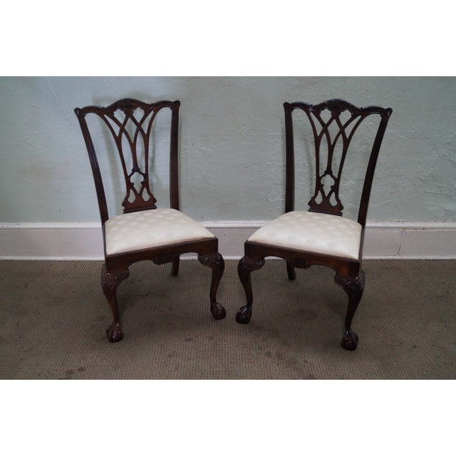 Drexel Chippendale Mahogany Dining Chairs - Set of - Image 2 of 10