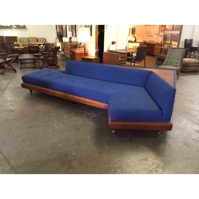 Mid Century Adrian Pearsall for Craft Associates Model 1800 Boomerang Sofa - Image 3 of 11