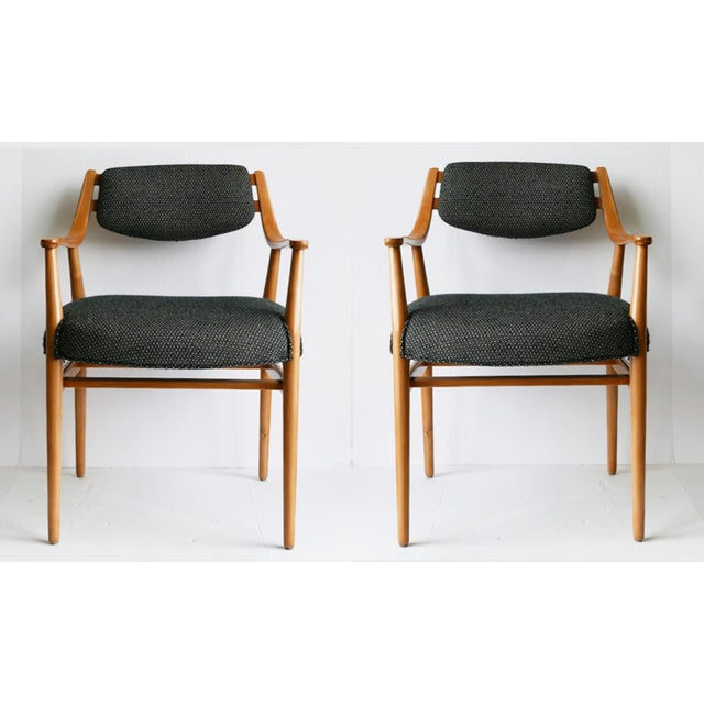 Wood Unusual Scandinavian Chairs - Pair For Sale - Image 7 of 7