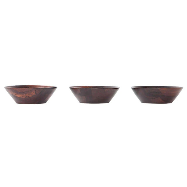 Trio of Danish Rosewood Bowls by Laurids Lonborg for Illums Bolighus - Image 3 of 9
