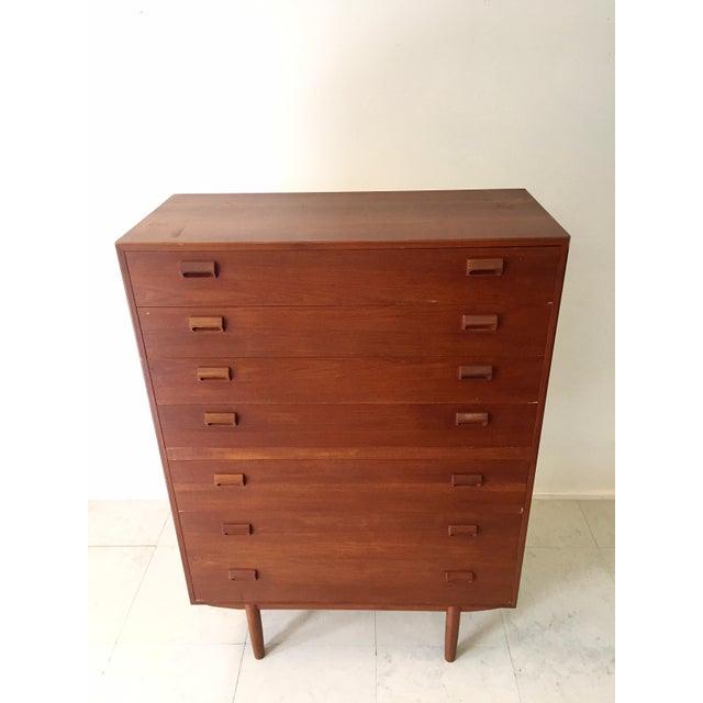Danish Modern Børge Mogensen Teak Highboy Dresser For Sale - Image 3 of 8
