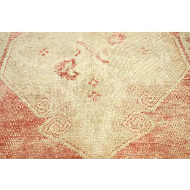 "Vintage Turkish Oushak Accent Rug - 2'5"" X 2'7"" For Sale - Image 4 of 10"
