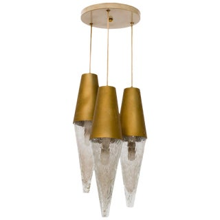 German Midcentury Staggered Pendant Fixture For Sale