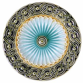 Swedish Majolica Geometric Plate