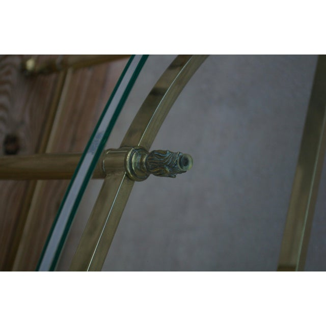 La Barge Style Vintage Brass and Glass Console For Sale In Austin - Image 6 of 7