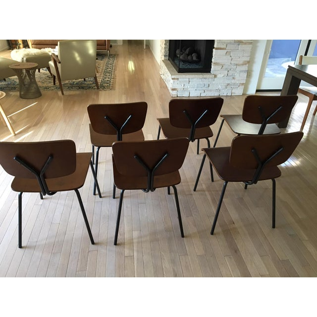 Molded Wood Dining Chairs - Set of 6 - Image 5 of 6