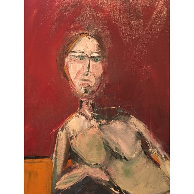 """JJ Justice """"Everyone Stares at Her"""" Oil Painting For Sale - Image 9 of 11"""