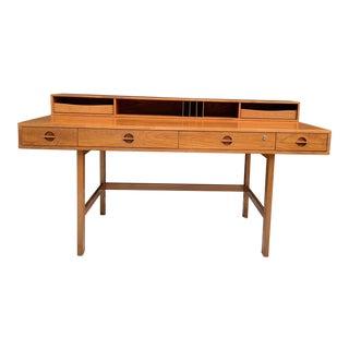 Loving for Dansk Flip Top Teak Desk For Sale