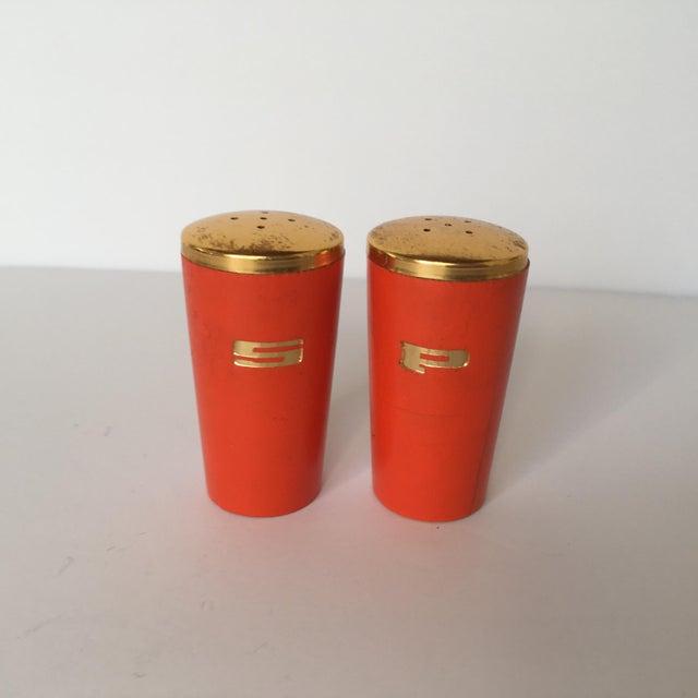 Vintage Orange Salt & Pepper Shakers - Image 3 of 5