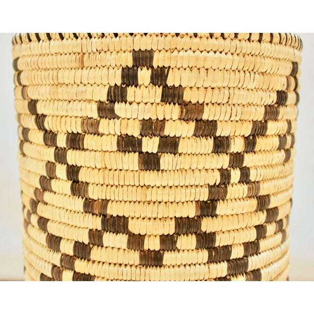 Handwoven Tohono O'Odham Native American Basket For Sale In Sacramento - Image 6 of 10