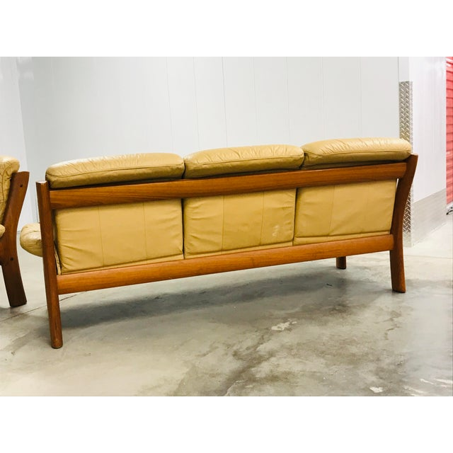 1970s Vintage Ekornes Stressless Montana Solid Teak Loveseat and Sofa - 2 Pieces For Sale - Image 9 of 13