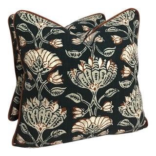 "Contemporary Robert Allen Pradesh Frame Pillows - a Pair, 20""x20"" For Sale"