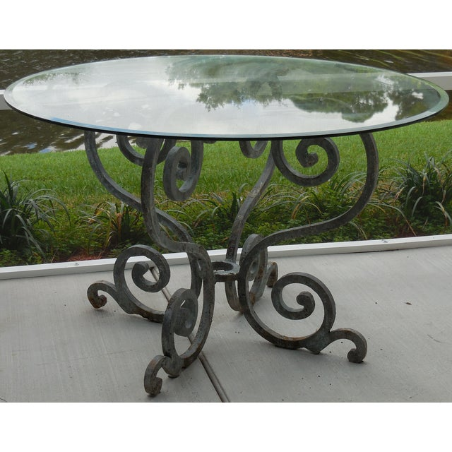 Vintage Palm Beach Iron Table - Image 2 of 11