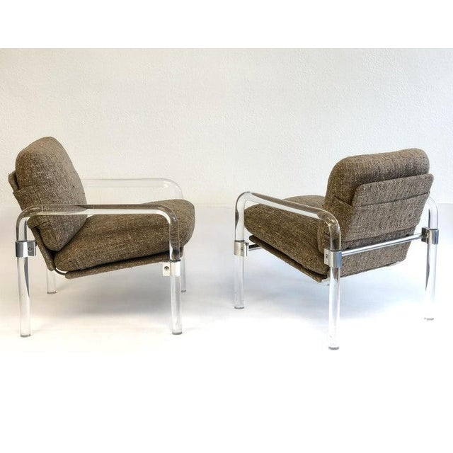 """Contemporary """"Pipe Line Series 2"""" Acrylic and Chrome Lounge Chairs by Jeff Messerschmidt - a Pair For Sale - Image 3 of 11"""