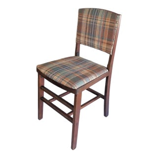 1940s Vintage Ferguson Treasured Furniture Padded Wood Folding Chair For Sale
