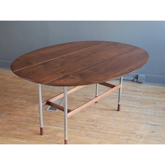 Danish Modern Danish Drop-Leaf Dining Table Attributed to Arne Vodder For Sale - Image 3 of 6