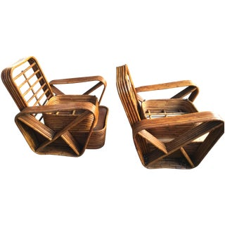 Paul Frankl 6 Strand Pretzel Lounge Chairs - Pair