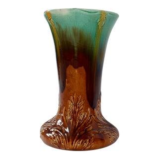 Majolica Glazed Ceramic Garden Pedestal