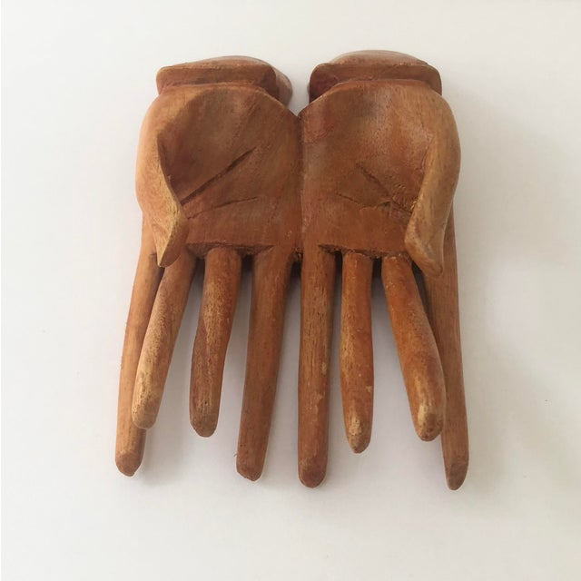 Late 20th Century Wooden Hand Card Holder For Sale - Image 5 of 8