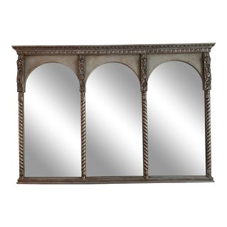Italian Style Gilt Carved Large Mirror For Sale