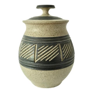 Legatha Joan Walston, Georgia Pottery Hand Thrown, Studio, Lidded Pot For Sale