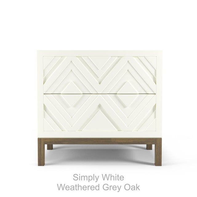 Contemporary Susana Side Table - Coral Dust, Weathered Gray Oak For Sale - Image 3 of 5