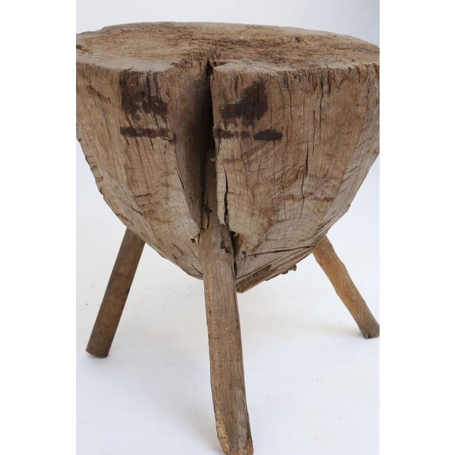 Primitive Butchers Block Table For Sale - Image 11 of 13
