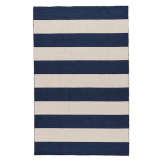 Jaipur Living Tierra Handmade Striped Navy/ White Area Rug - 4′ × 6′