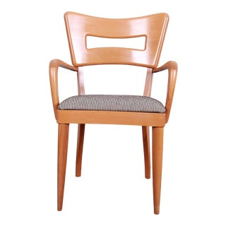 """Heywood Wakefield Mid-Century Modern Sculpted Solid Maple """"Dogbone"""" Armchair For Sale"""