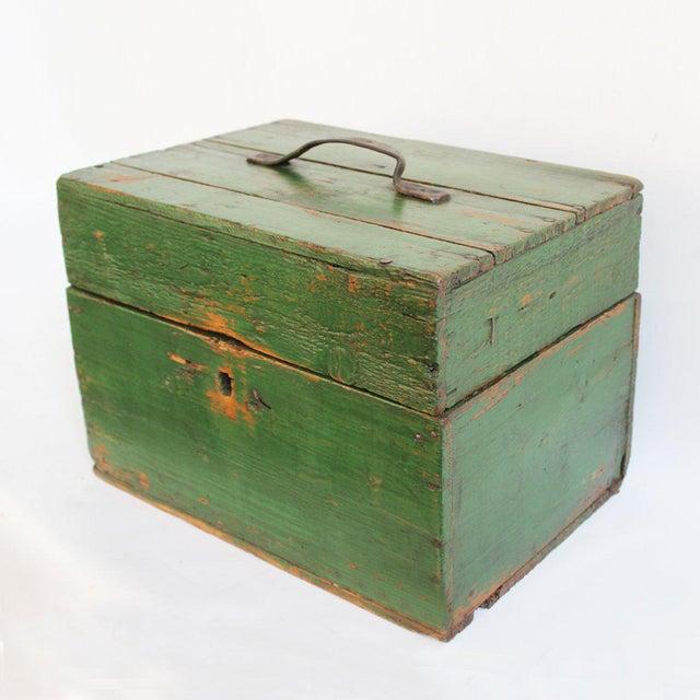 Hungarian Green Storage Box - Image 2 of 3