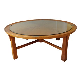 1950s Henredon Heritage Manteika Round Coffee Table For Sale